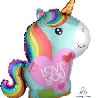 i love you unicorn balloon