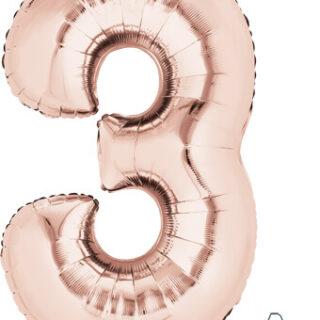 number three balloon