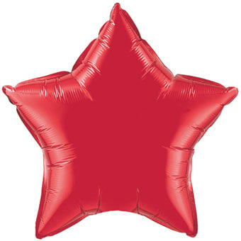ruby red foil star balloon