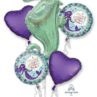 seahorse balloon bouquet
