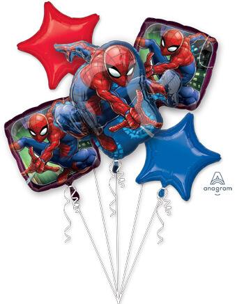 spiderman balloon bouquet