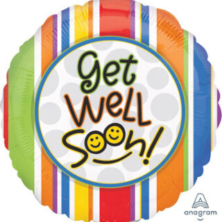 striped get well soon balloon