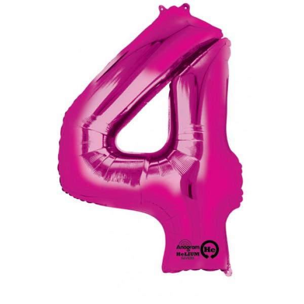 pink four balloon