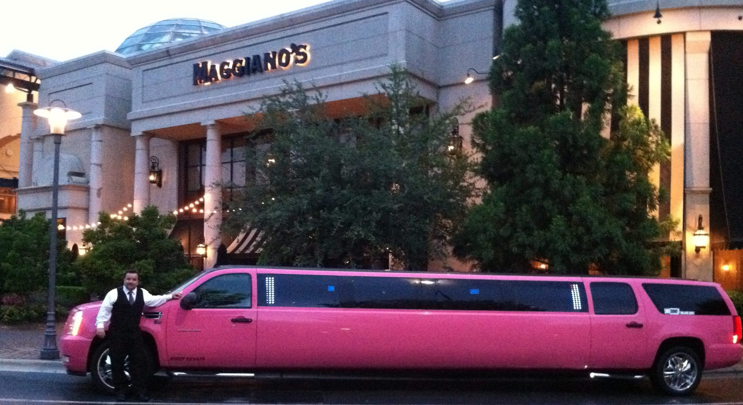 Maggianos pink limo Johnny B's