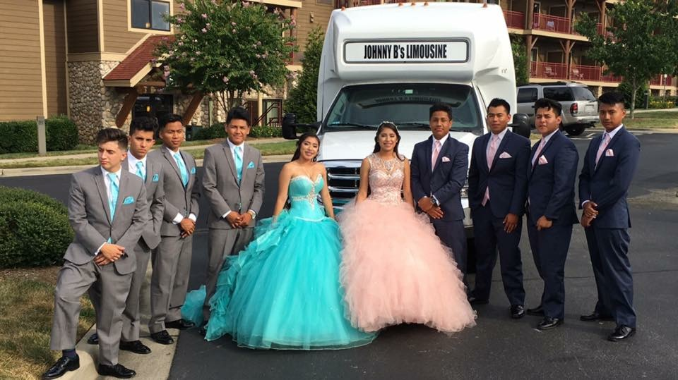 two Quinceanera limo bus NC