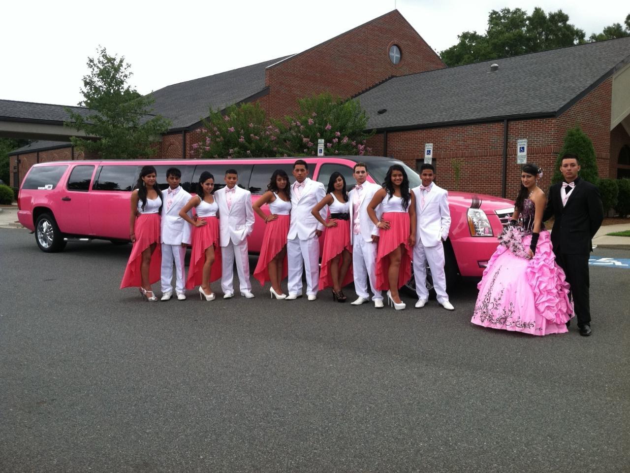 Pink Quincieanera Limo 2016