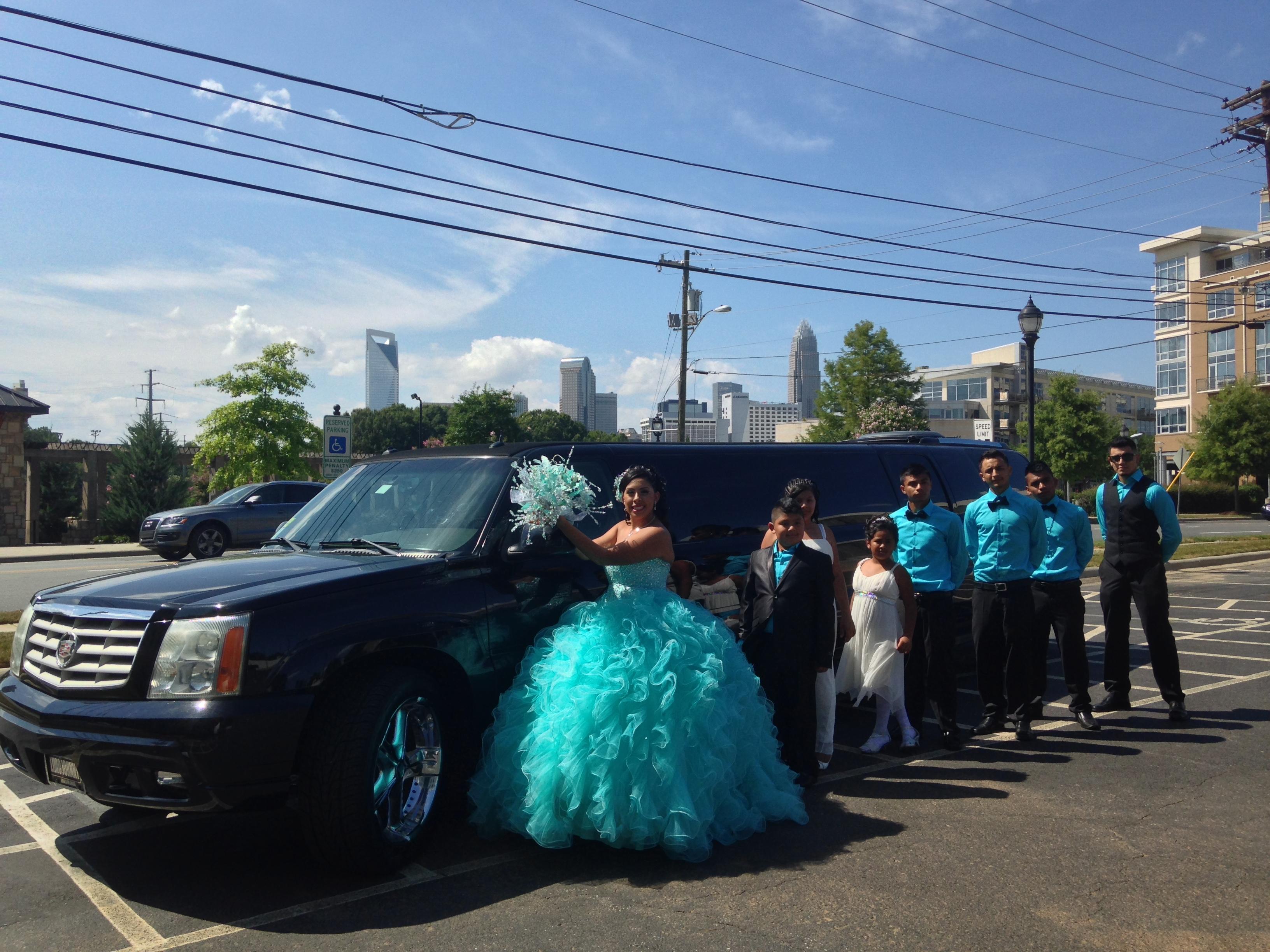 Quincieanera blue dress