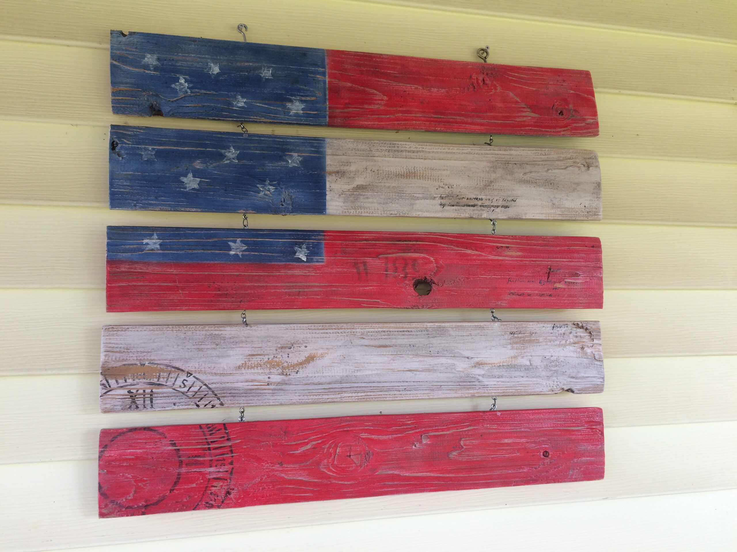 Recycled Flag, Wooden Spool
