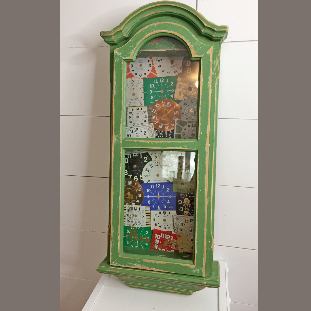 Wait Until You See This Antiquey Clock Cabinet