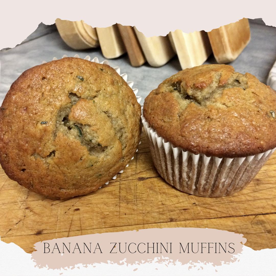 The Best Banana Zucchini Muffins