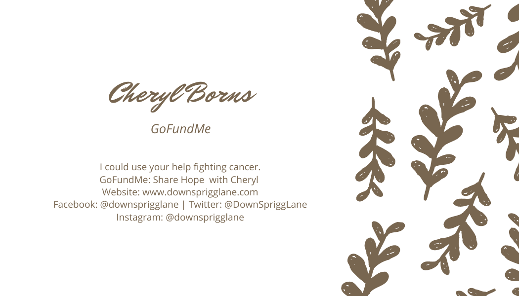 Share Hope with Cheryl