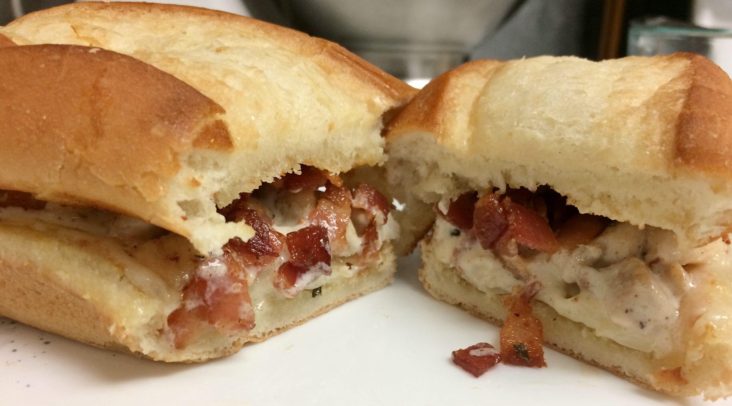 How to Make a Chicken Alfredo Sandwich
