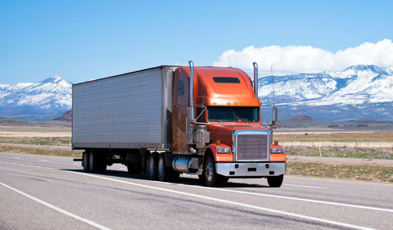 image of Semi on the road