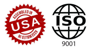 iso 9001 - seal of Assembled in USA