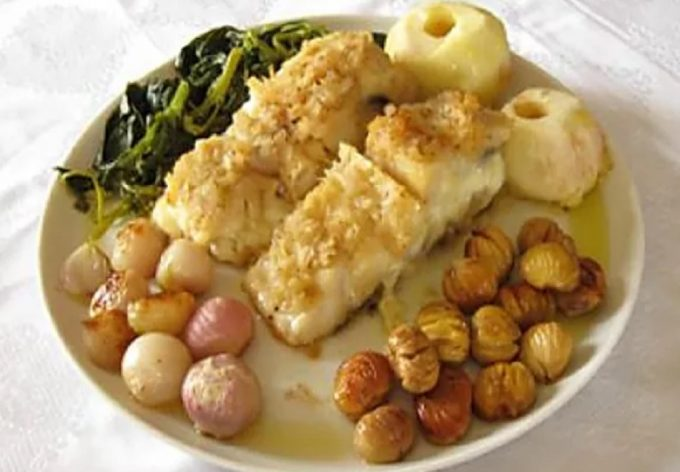 Codfish with Chestnuts (Bacalhau com Castanhas)