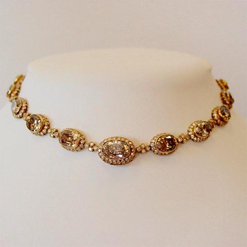 Fancy Colored Diamond Necklace