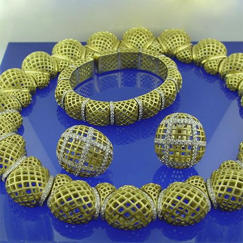 Diamond Necklace, Bracelet and Earring Set