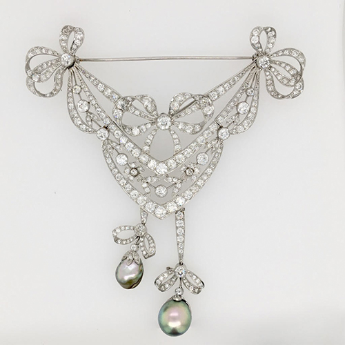 Baroque Pearl Stomacher Brooch