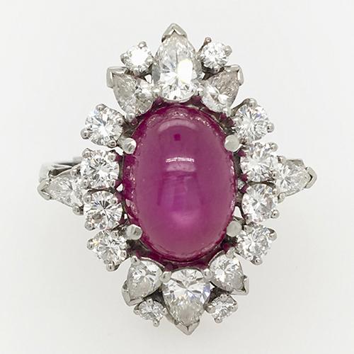 Burma Star Ruby and Diamond Ring