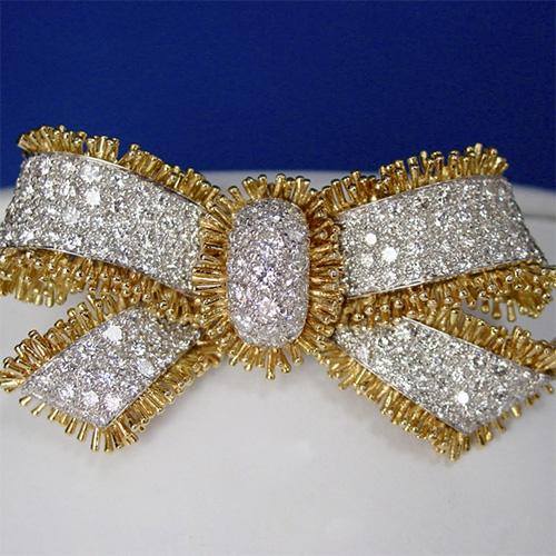 Diamond Bow Brooch by David Webb