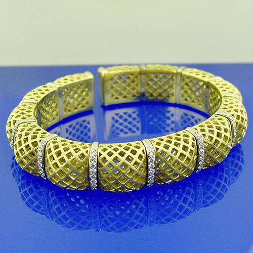 18K Diamond Bracelet Set
