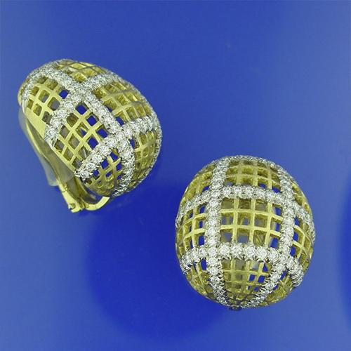 18K Diamond Earring Set