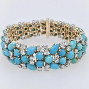Diamond and Turquoise Bracelet