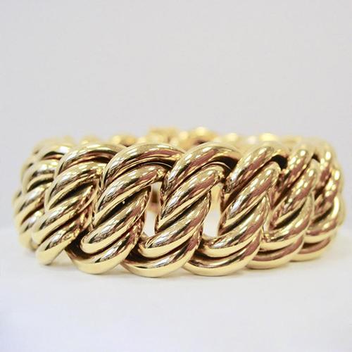 Heavy German 18 Karat Yellow Gold Link Bracelet