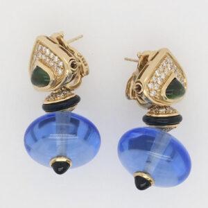 Marina B Gemstone and Bead Drop Earrings
