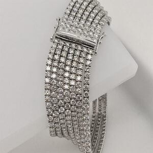 Multi-strand 18 Karat White Gold Diamond Bracelet