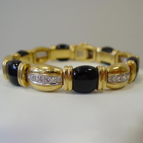 Diamond and Onyx Bracelet