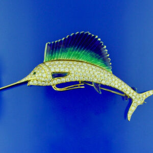 Sailfish Brooch