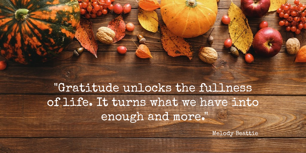 """Gratitude unlocks the fullness of life. It turns what we have into enough and more"" Melody Beattie Quote beholdher.life"