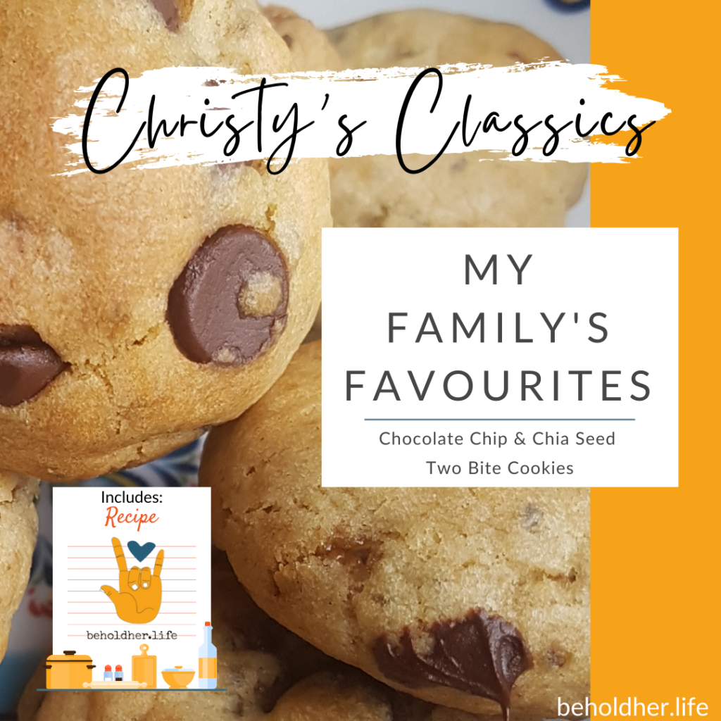 Christy's Classics - Chocolate Chip & Chia Seed Two Bite Cookies