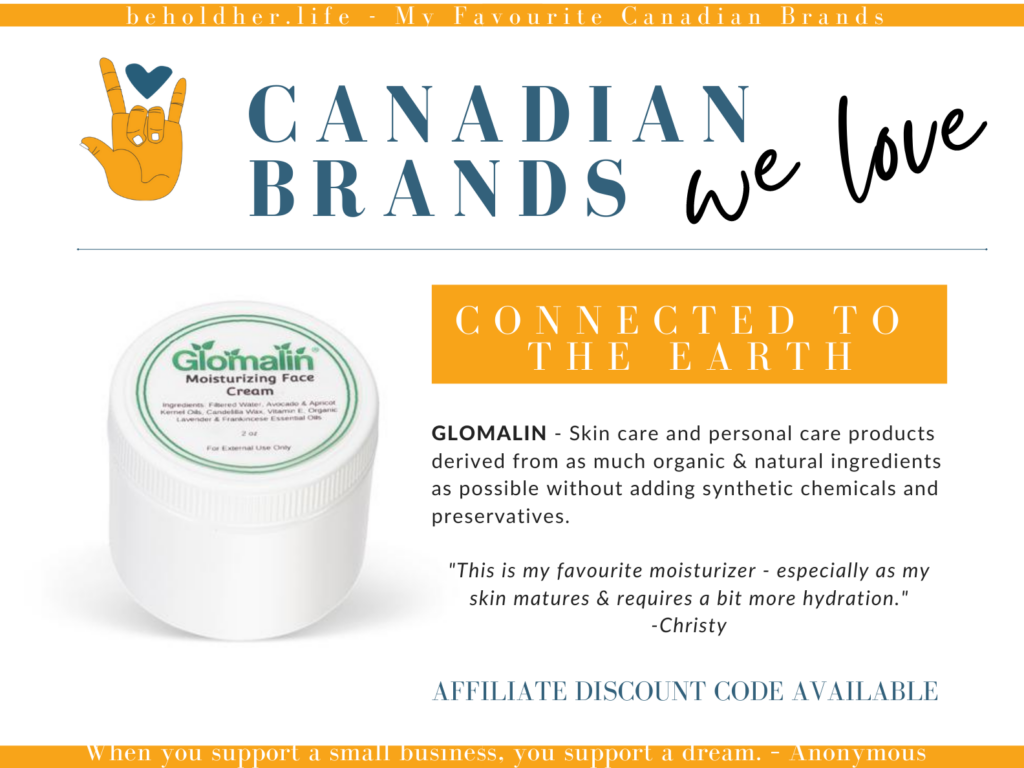 beholdher.life Canadian Brands We Love Featuring Glomalin - Connected to the Earth  - Skincare and personal care product. Canadian Made. Based out of Ontario.