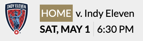 LFC - May 1 Indy Eleven