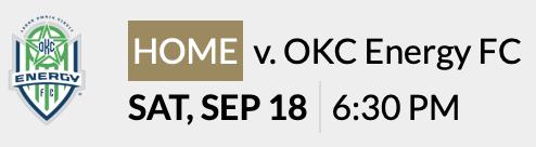 LFC - Sept 18 OKC Energy FC