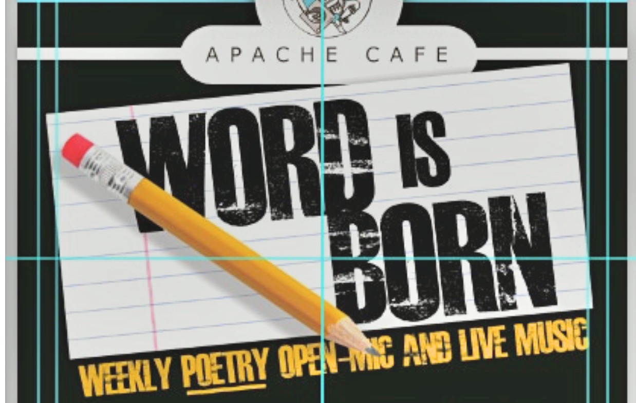 flyer for Word is Born open mic