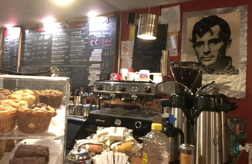 coffee counter at Kafe Kerouac