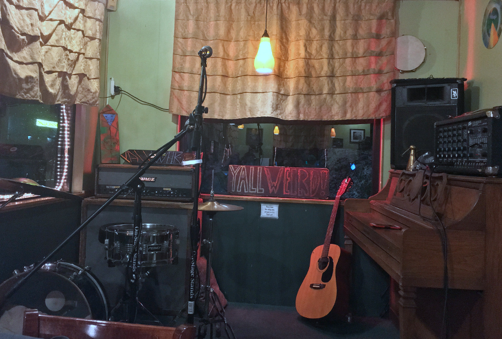 open mic stage at Coffee Culture in Gainesville