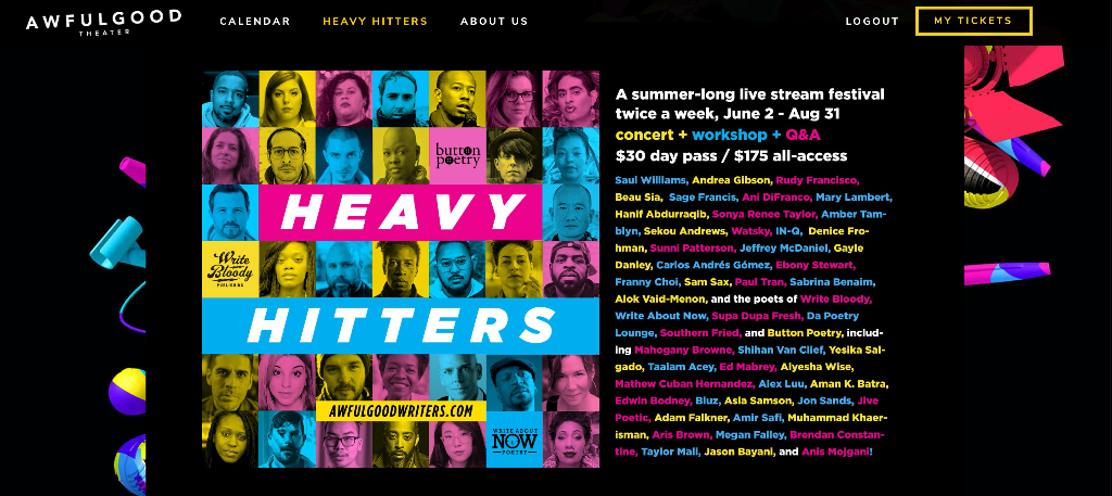 banner graphic for Heavy Hitters