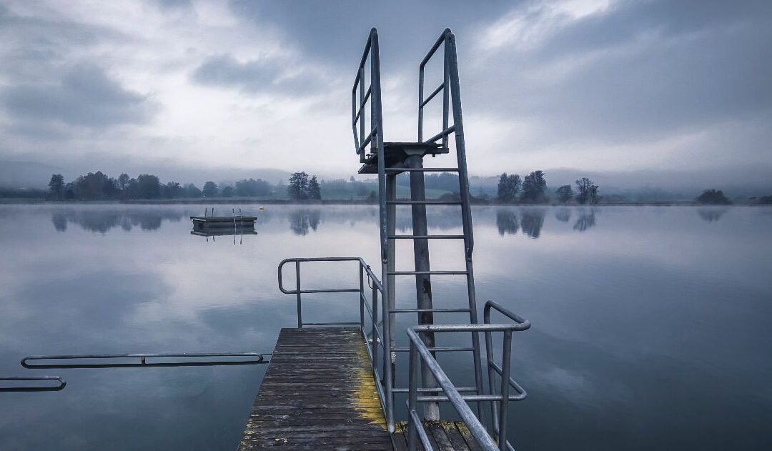diving platform over a lake
