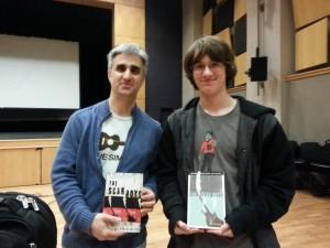Teen Book Crew reviewer Caleb meets author, Len Vlahos
