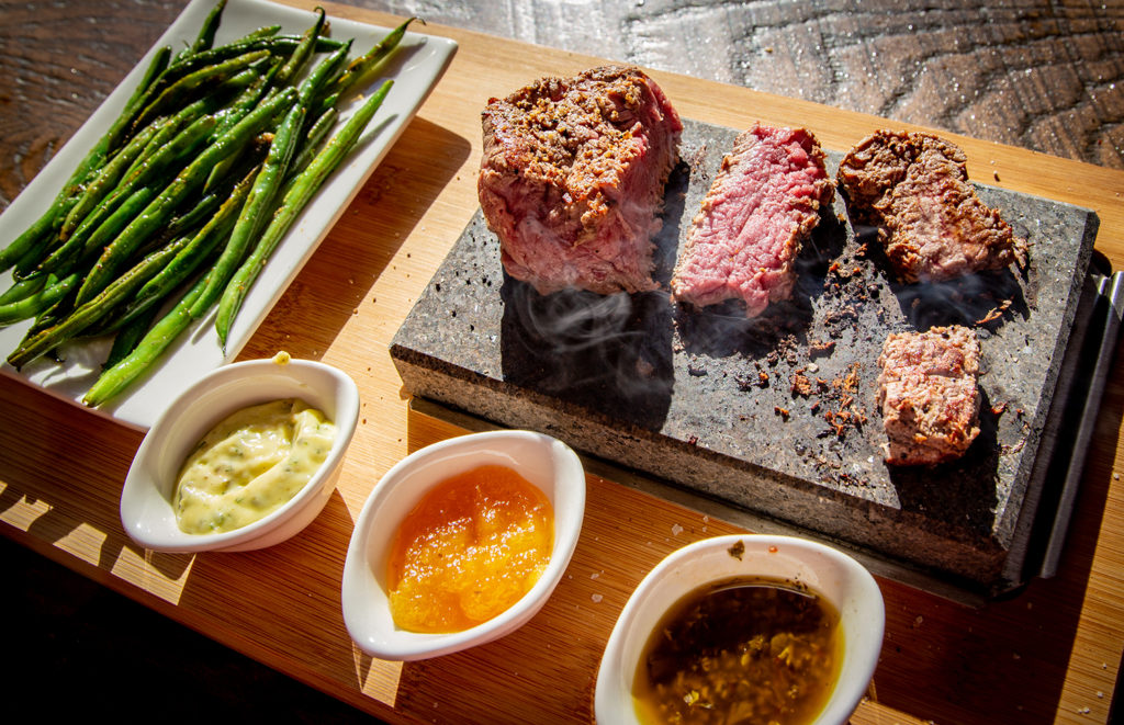North Shore Tavern's Steak on a Stone
