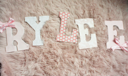 DIY Decorative Kid's Letters