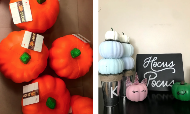 DIY Dollar Store Pumpkin Decorating