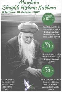 Mawlana Shaykh Hisham UK Oct 2017