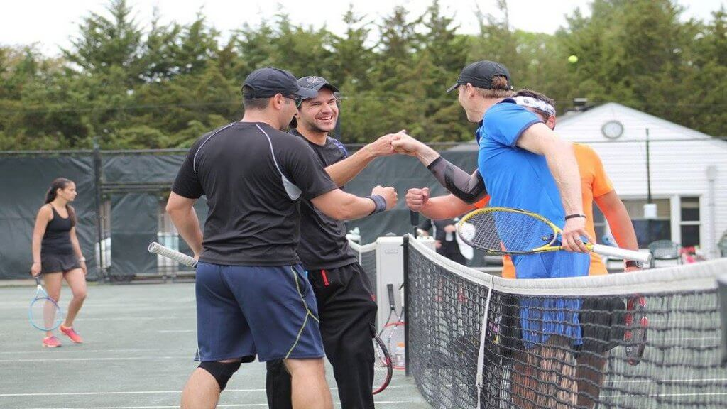 Traveling Tennis Pros - Doubles is a Strange Game