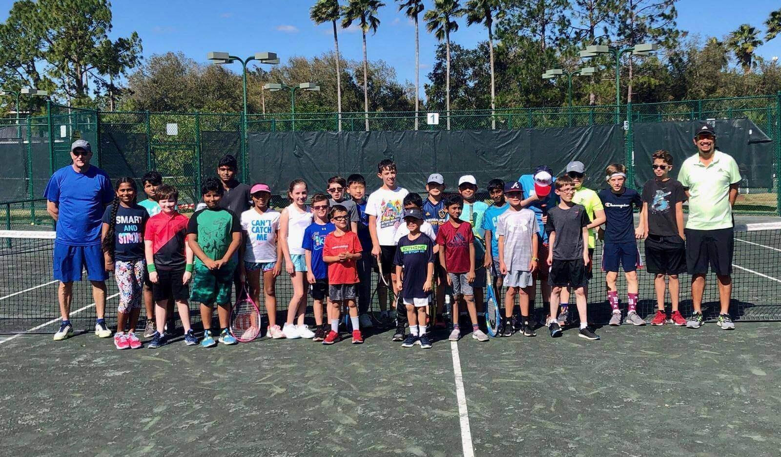 Traveling Tennis Pros - Arbor Greene Group Photo