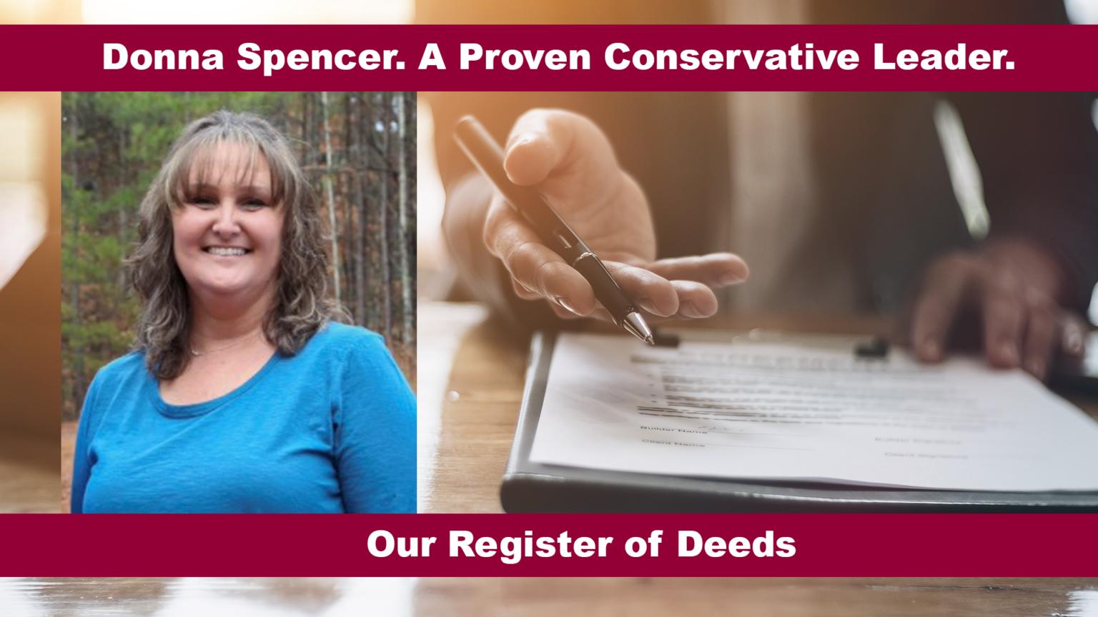 Donna Spencer Our Register of Deeds